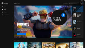 A screenshot of the Epic Games launcher highlighting the social features on the top bar.
