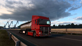 A Euro Truck Simulator 2 screenshot showing a truck under the new lighting system.