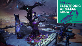 the spooky tree from the Destiny 2 Festival Of The Lost Halloween event, with the RPS Electronic Wireless Show logo in the top right corner