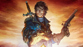 Our hero reaches for the crown on Fable 3's box art.