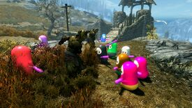 Image for This mod lets you conquer Skyrim with a horde of tiny Fall Guys