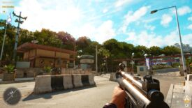 A scene from Far Cry 6 showing the effects of enabling Auto HDR in Windows 11.