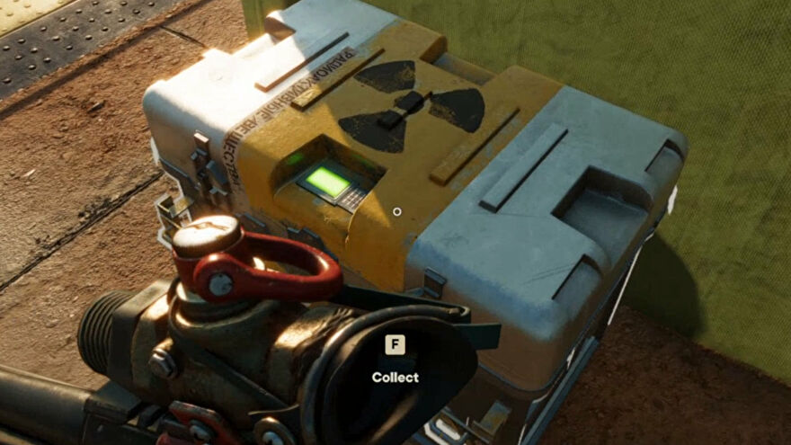 A player loots a crate in an Anti-Aircraft Site in Far Cry 6 which contains Depleted Uranium.