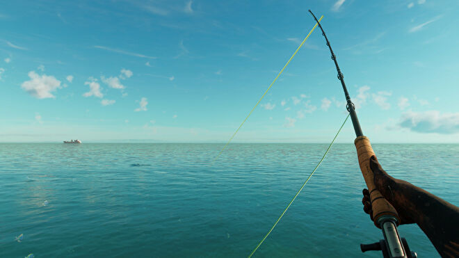 A player fishing on the coast in Far Cry 6.