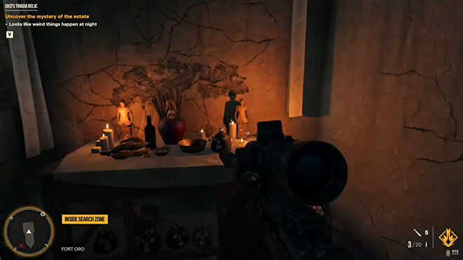 Far Cry 6: the player find the Dungeon Key in a hidden room in the Oku's Triada Relic quest.