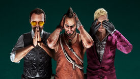 An image showing the villains from Far Cry 3, 4 and 5, who return in Far Cry 6's season pass.