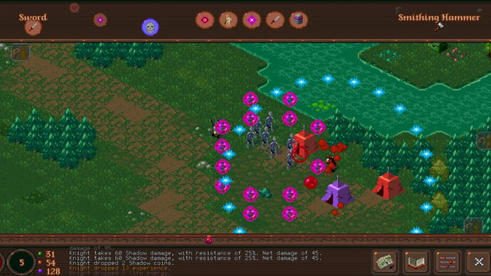 A screenshot of Fates Of Ort, an action RPG where time stands still when you do.