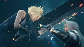 Cloud and Sephiroth clash swords in a Final Fantasy VII Remake Intergrade screenshot.