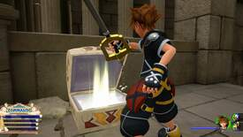 Sora opens a chest of Fluorite