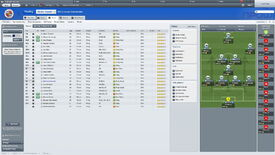 The football manager 2012 tactics screen, with Reading's team lined up and ready to go.