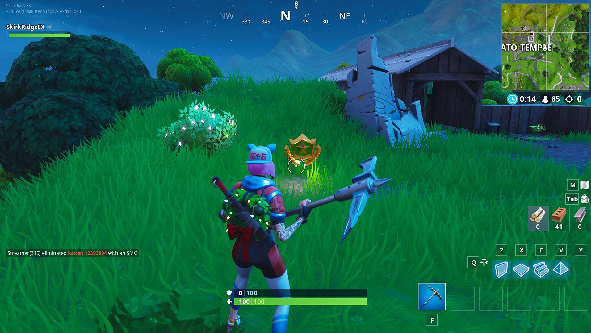 Where Is The Giant Rock Man Challenge In Fortnite Fortnite Week 5 Battle Star Location Between A Giant Rock Man Crowned Tomato And Encircled Tree Rock Paper Shotgun