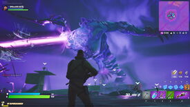 Image for Fortnite summons the Storm King for a spooky PvE boss battle event