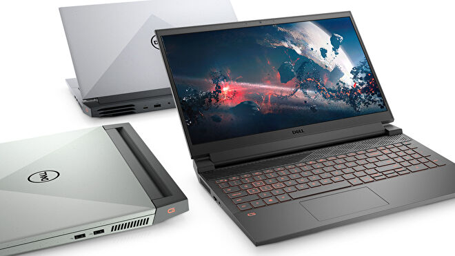 images of dell gaming and work laptops, specifically the g15