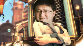 Elizabeth from BioShock Infinite with the face of Gabe Newell