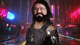 Johnny Silverhand from Cyberpunk 2077, but with the face of Gabe Newell