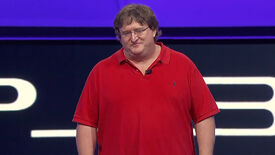 Gabe Newell announcing Portal 2 is coming to PS3 during Sony's E3 press conference in 2010