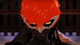 Joker looks at the camera and smirks in Persona 5 Strikers.