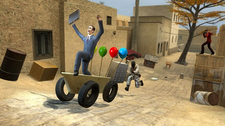 Players frolic in Garry's Mod.
