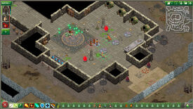 A battle in a dungeon in a Geneforge 1 - Mutagen screenshot.