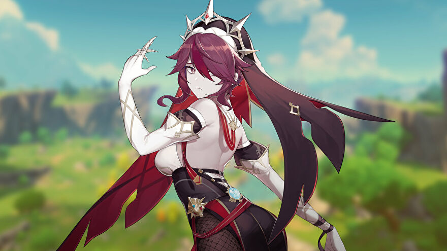 Promotional art of the character Rosaria from Genshin Impact.