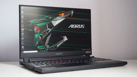 A photo of the Gigabyte Aorus 15G gaming laptop