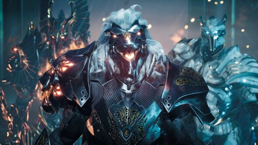 Image for Godfall's first expansion adds more snazzy armour in August