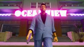 Screenshot of the remastered Vice City from Grand Theft Auto: The Trilogy – The Definitive Edition.