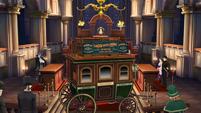 A Victorian hansom cab has been brought into court in The Great Ace Attorney Chronicles