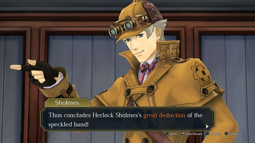 Herlock Sholmes in The Great Ace Attorney Chronicles