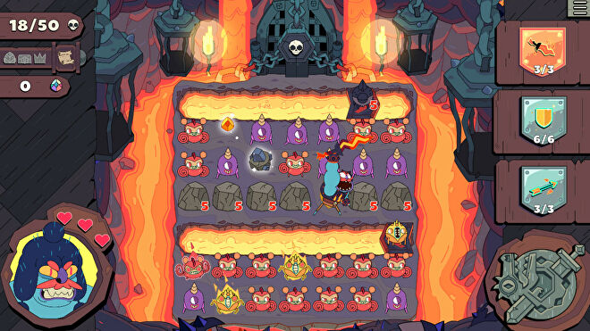 A screenshot of puzzle game Grindstone on PC