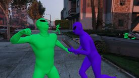 Image for GTA Online alien suits are free this week, fuelling the green vs. purple wars