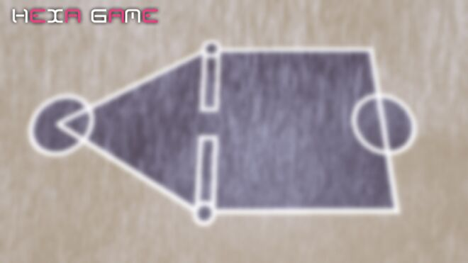 """A deliberately blurred background of the Squid Game play area from the TV series. Text in image reads """"Hexa Game""""."""