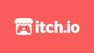 Itch.io's logo on its brand pink background.