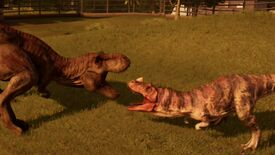 Image for Video: Watch dino fights and raptor escapes in Jurassic World Evolution