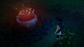 Kena directs the Rot to lift an Incense Pot in Kena: Bridge Of Spirits.