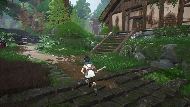The path towards a Spirit Mail collectible in Kena: Bridge Of Spirits.
