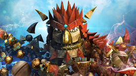 A screenshot showing a character from Knack.