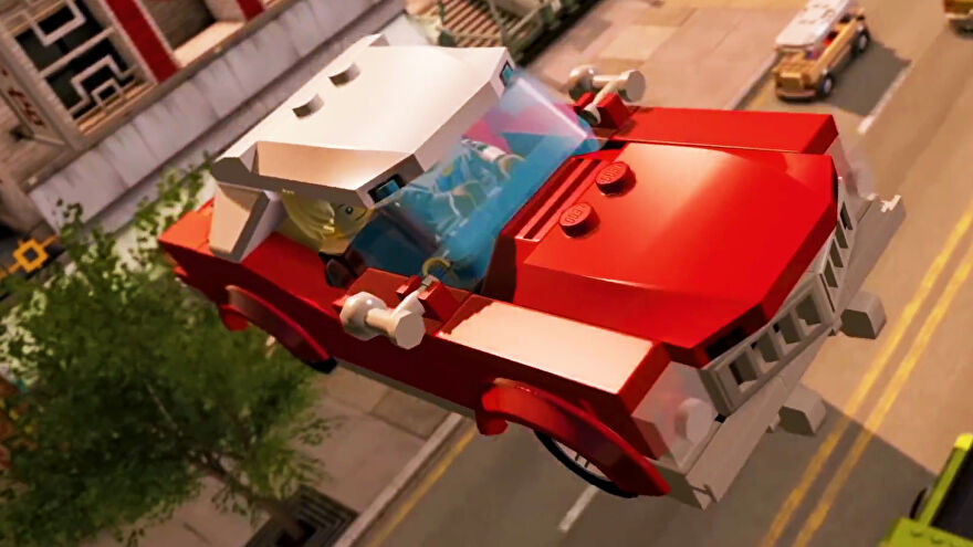 A car going through the air in Lego City Undercover
