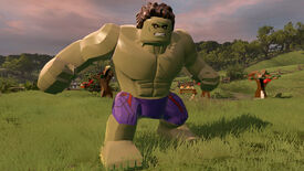 Hulk looking angry in Lego Marvels Avengers