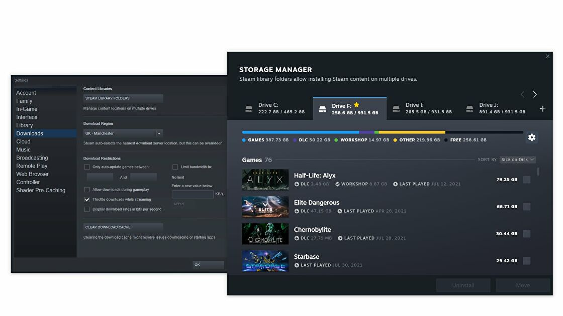 Steam's new storage manager will show you where your game's gigabytes are - Rock Paper Shotgun