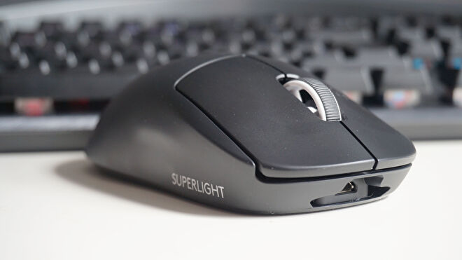 A photo of the Logitech G Pro X Superlight gaming mouse