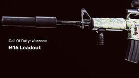 Call of Duty Warzone's M16 on a black background