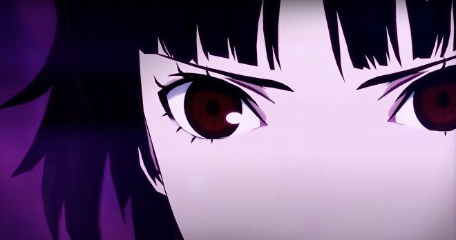 A close up of Makoto's face in Persona 5 Strikers.
