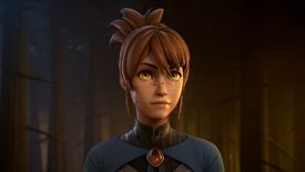 A still image of Marci from Dota: Dragon's Blood in the trailer revealing her coming addition to Dota 2.