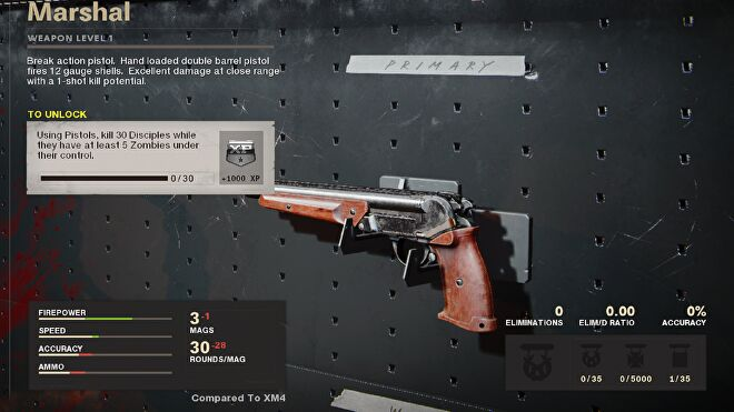 The unlock challenge for the Marshal in Zombies
