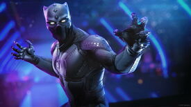 A screenshot of Black Panther bearing his claws in the Wakanda expansion for Marvel's Avengers
