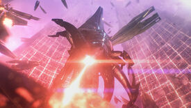 Reaper attack on the Citadel in a Mass Effect Legendary Edition screenshot.