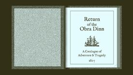 Image for How a book binds the Return of the Obra Dinn