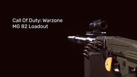 The Warzone MG 82 on a blank background