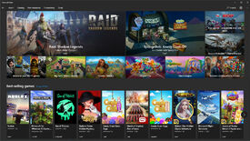A screenshot of the Microsoft Store's main Gaming page.